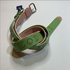 2 leather belts Sz M